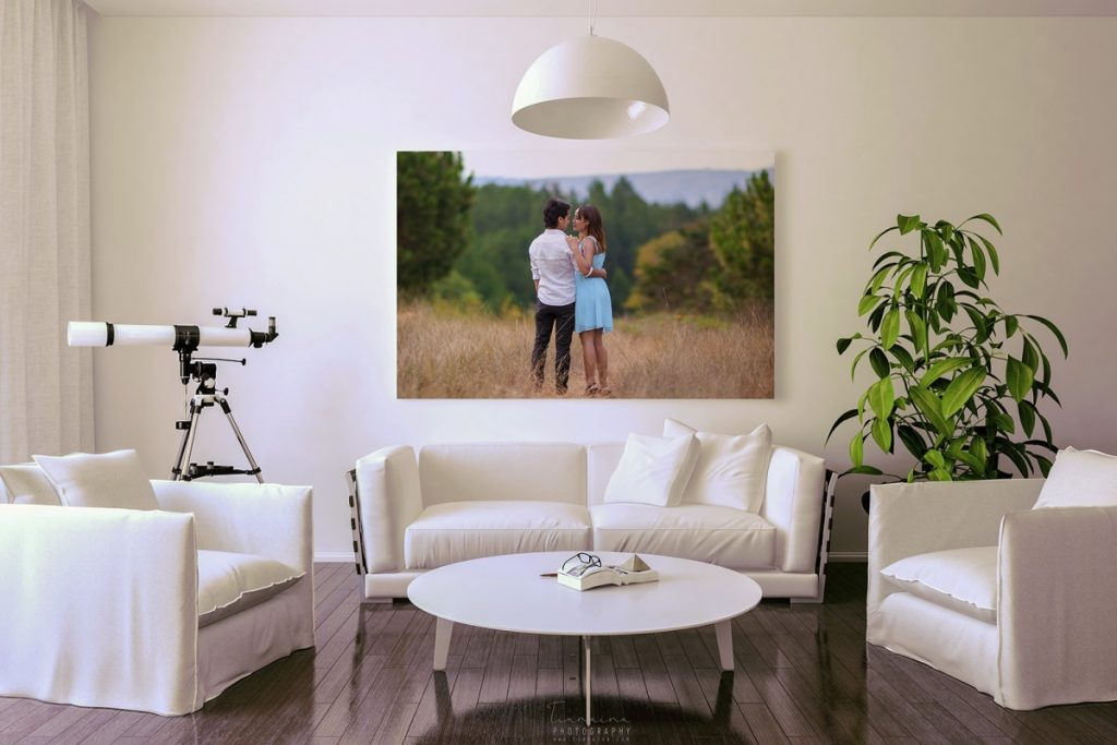 Votre photo de session d'engagement dans votre salon