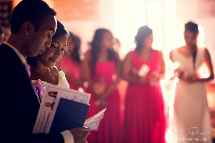 Les Mariés et les filles d'honneur par Tianaina photographe professionnel mariage