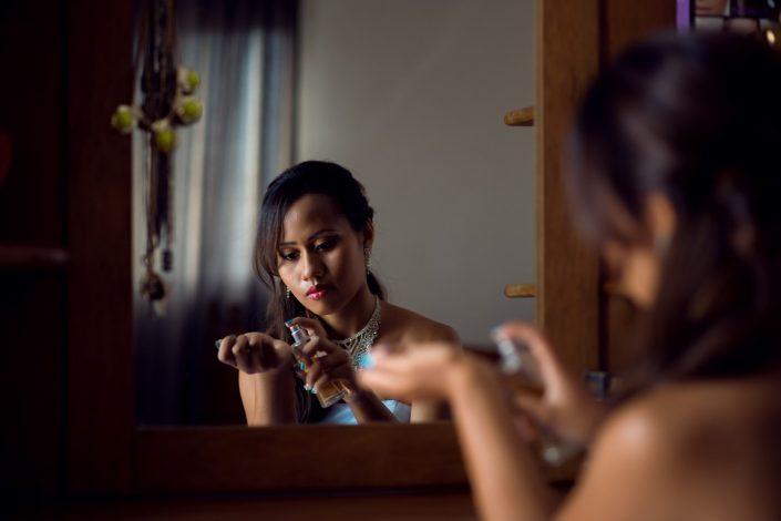 Préparation d'une fiancée par Tianaina photographe professionnel Madagascar
