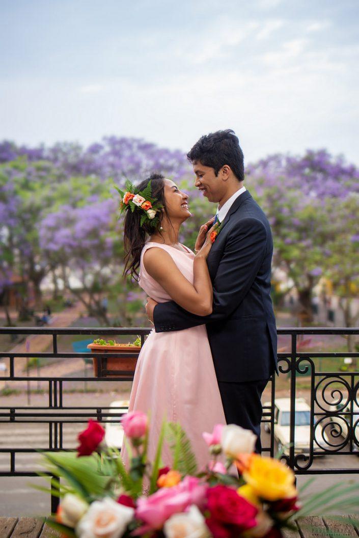 Couple fiancés, photographiés par Tianaina à l'hôtel Louvre Antananarivo
