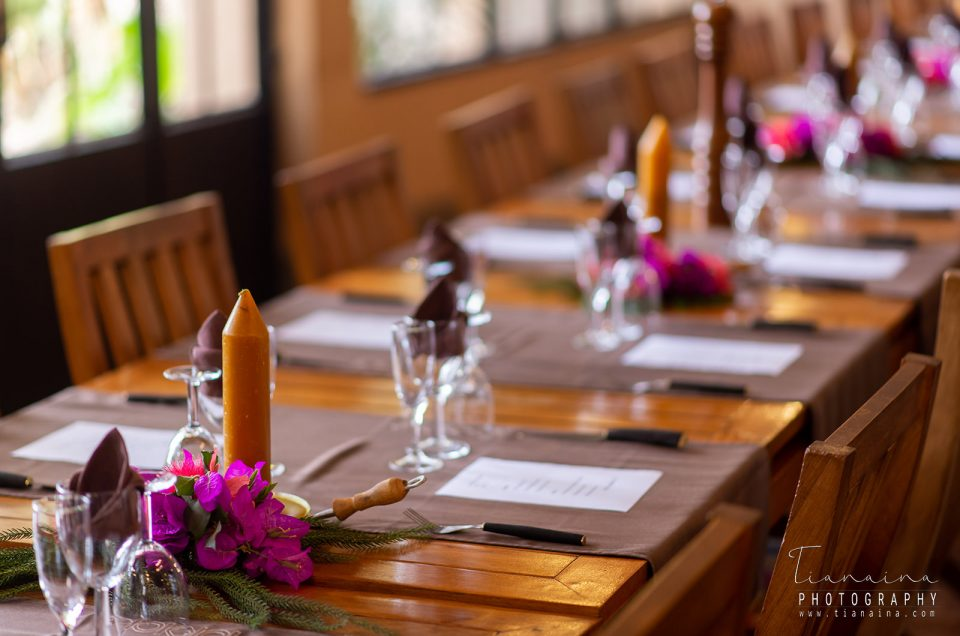 Couverture table fiançailles