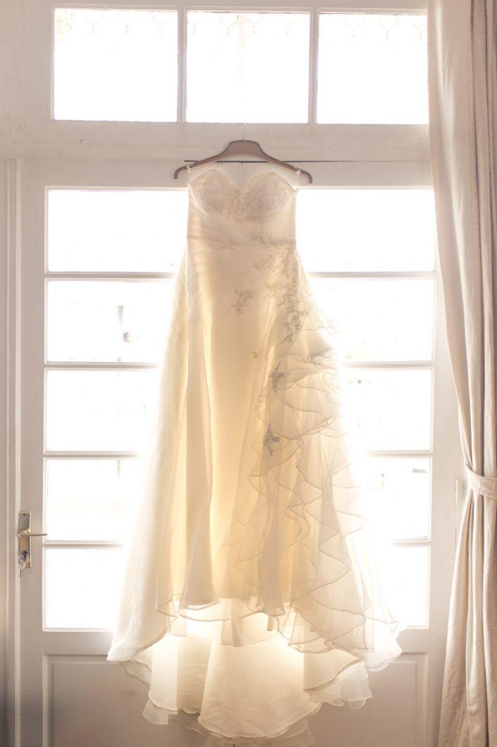 Robe d'une mariée, préparation photographiée par Tianaina
